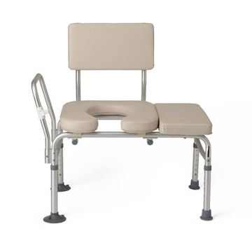 Picture of Medline Guardian - Padded Tub Transfer Bench with Commode Opening
