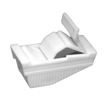 Picture of Urocare - Two Position White Plastic Tube Clamp