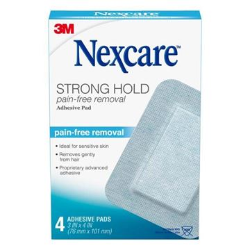 Picture of 3M Nexcare Strong Hold - Pain-Free Removal Adhesive Pad