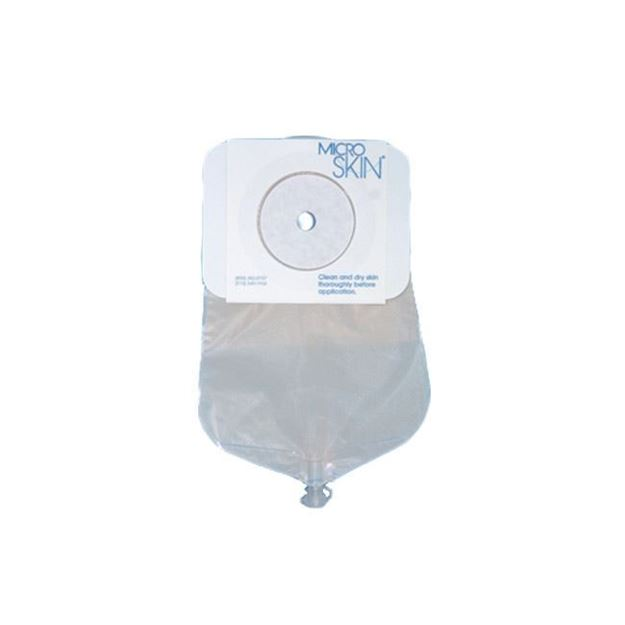 """Picture of Cymed MicroSkin - 9"""" Drainable One-piece Urostomy Bag (Cut to Fit)"""