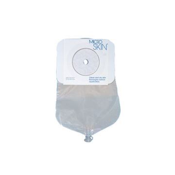 """Picture of Cymed MicroSkin - 9"""" Drainable One-piece Urostomy Bag (Pre-cut with Plain Barrier)"""