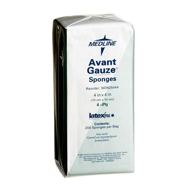 Picture of Medline Avant - Non-Sterile Gauze Sponges with Non-Woven Formed Fabric