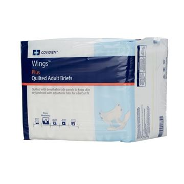 Picture of Covidien Wings Plus - Quilted Adult Diapers with Tabs
