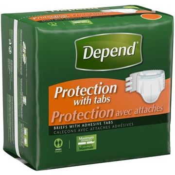Picture of Depend Protection with Tabs - Adult Diapers