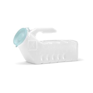 Picture of Medline - Translucent Plastic Portable Urinal (Glow-In-The-Dark Lid)
