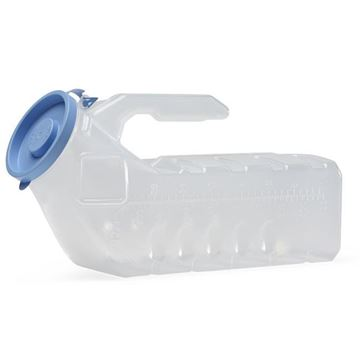 Picture of Medline - Autoclavable Male Portable Urinal with Cover