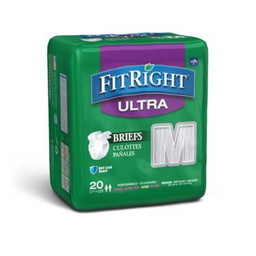 Picture of Medline FitRight Ultra - Adult Diapers with Tabs