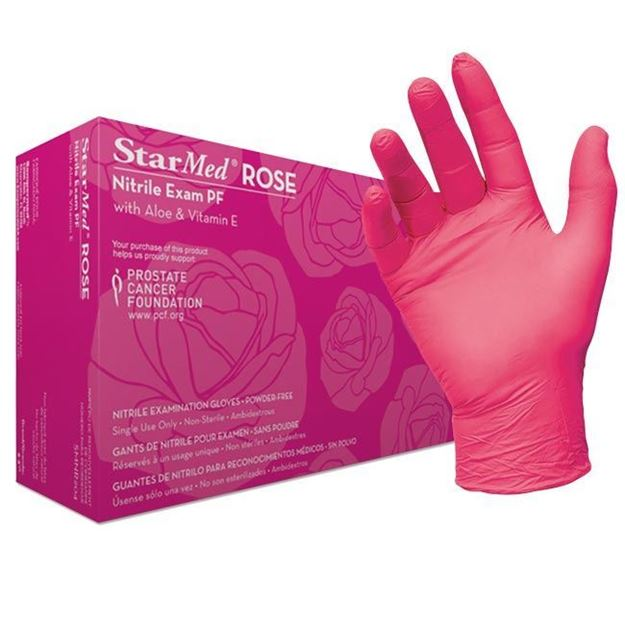 Picture of Sempermed StarMed Rose - Pink Nitrile Exam Gloves