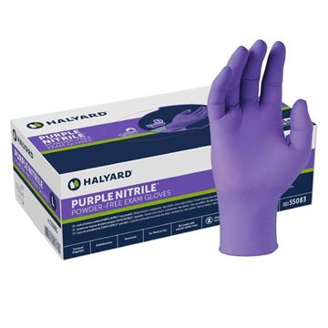 Picture of Kimberly-Clark Halyard - Purple Nitrile Exam Gloves