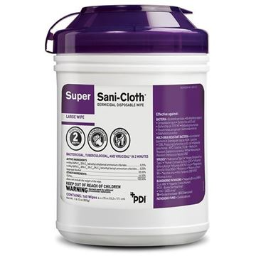 Picture of Super Sani Cloth - Germicidal Disposable Wipes