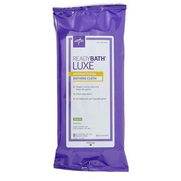 Picture of Medline READYBATH  LUXE - Disposable No-rinse Bathing Wipes