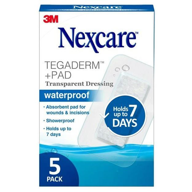 Picture of 3M Nexcare - Tegaderm +Pad Waterproof Transparent Dressing