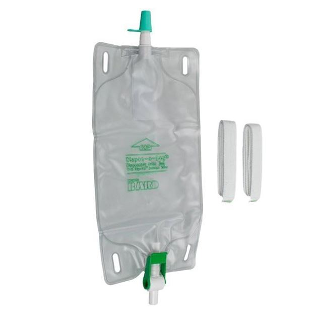 Picture of Bard Dispoz A Bag - Urinary Leg Bag with Flip-Flo Valve and Fabric Straps