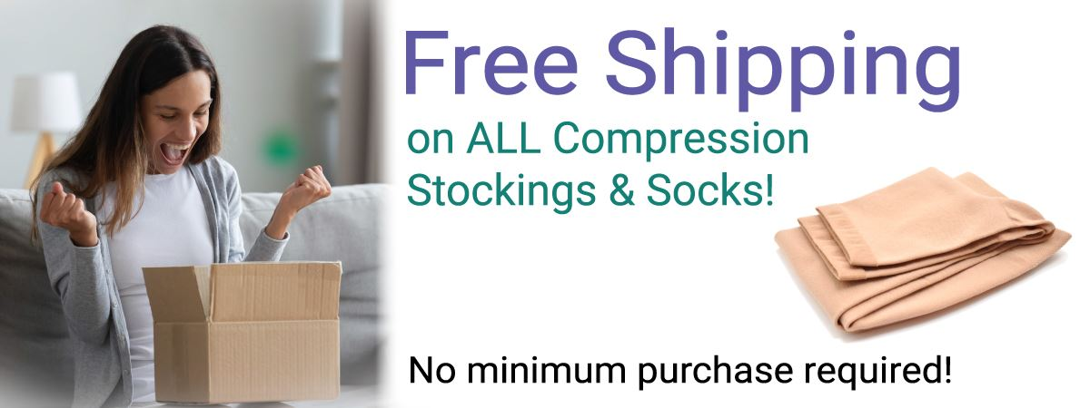 Free Shipping on all Compression Stockings & Socks