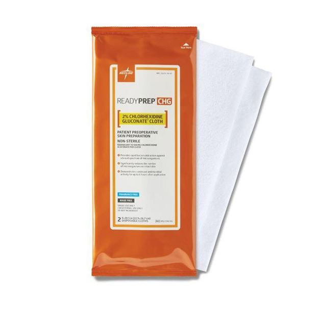 Picture of Medline ReadyPrep CHG 2% Chlorhexidine Gluconate Cloths